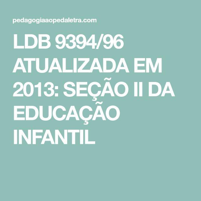 ldb 9394/96 atualizada 2013 para