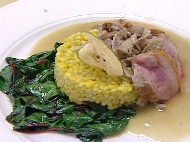Duck with Pear Sauce and Wilted Greens | Recipe
