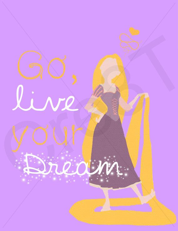 Disney Tangled Movie Quote Print by Cre8T on Etsy (I'm selling this Print for $4.00)  -Tia