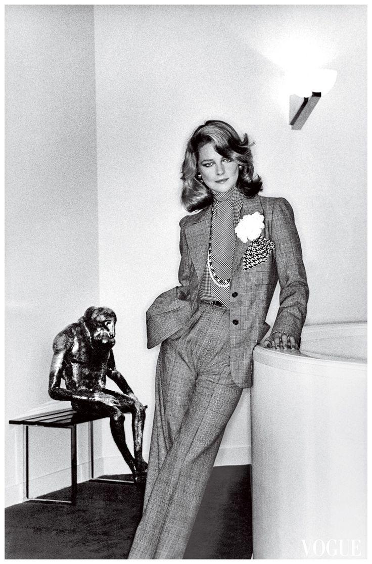 Charlotte Rampling by Helmut Newton for Vogue, Jan 1974