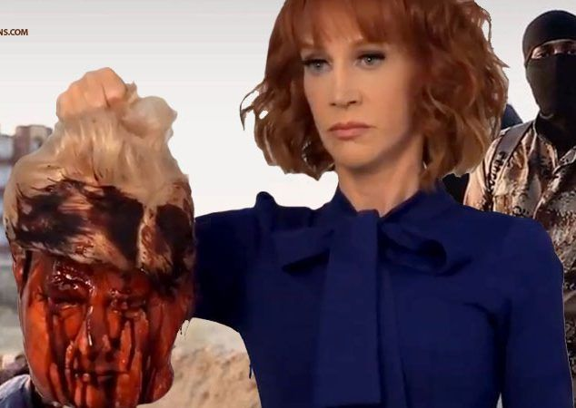 Liberal Hate-Baiter Kathy Griffin Channels Her Inner ISIS, Does 'Comedy' With Bloody Severed Trump Head