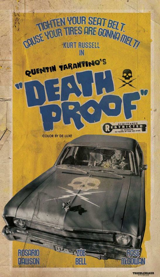 """Women are stalked by a scarred stuntman who uses his """"death proof"""" cars to execute his murderous plans."""
