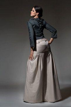 Women Pants Wide Leg Tan Dress Pants Palazzo by DariaKaraseva