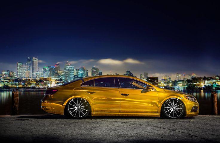 Gold Volkswagen Passat CC
