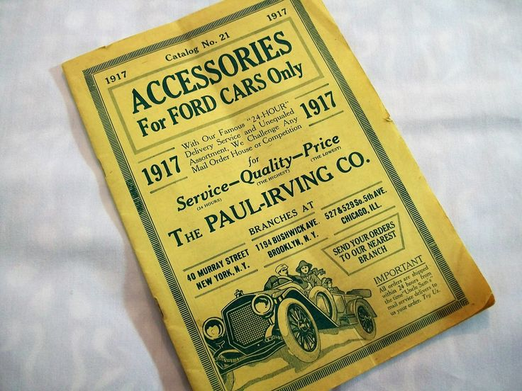 Vintage Original Ford Accessories Catalog, 1917 Catalog 21, Ford Parts Catalog Vintage by VintagePlusCrafts on Etsy