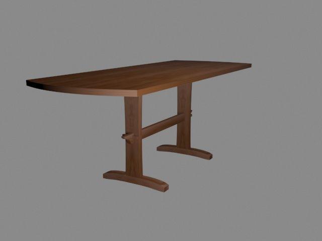 Two legged table