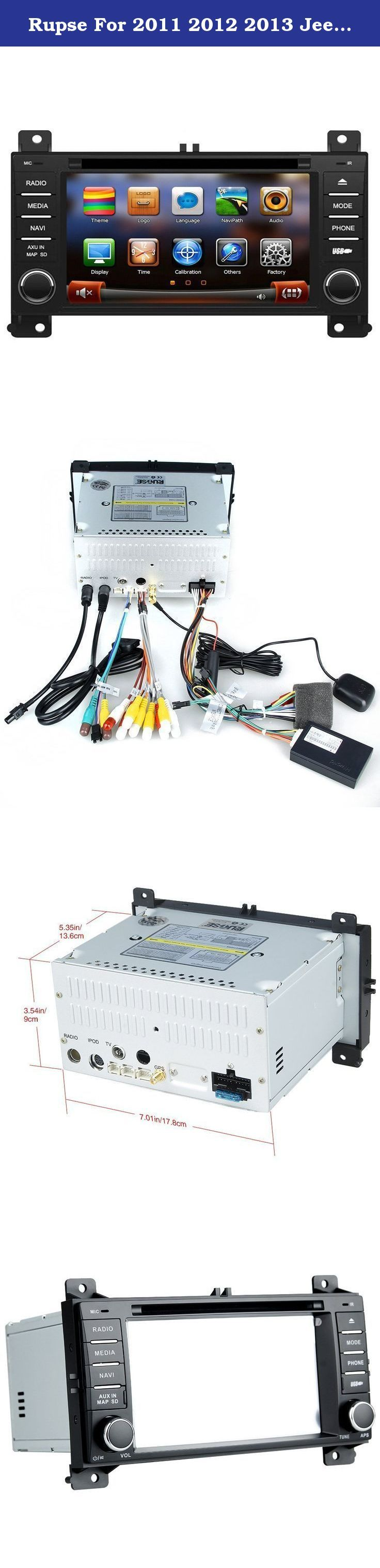 "Rupse For 2011 2012 2013 Jeep Grand Cherokee Car DVD DVD Player With BT/Ipop/SD/Handsfree Navigation System (OEM Factory Style,Free Maps). Key Features: This Car Multimedia system fits:2011 2012 2013 Jeep Grand Cherokee 5.5"" Digital High Definition 800*480 Touchscreen Built-in GPS navigation Unique 3D Flash Graphical User Interface Radio: AM FM, Support RDS (30 Preset Stations,18FM/12AM) Background picture customizable With hand free Bluetooth Support iPod Bluetooth phone book and…"