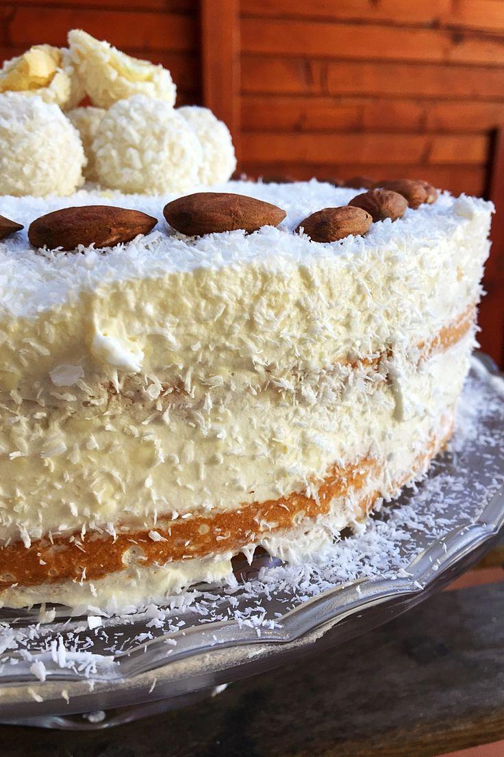Raffaello Torta - Kókusz és mandula nélkül pedig fehér csoki vagy vanília torta - Az idei karácsony legjobb pikk-pakk sütije! Hétvégén nagy családi összejövetel volt nálunk és egyben több szüli- és névnapot is ünnepeltünk, így...