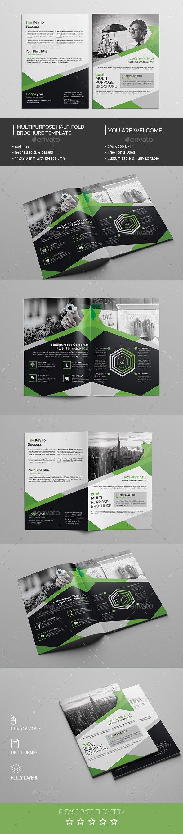 Corporate Bifold Brochure Template PSD #design Download: http://graphicriver.net/item/corporate-bifold-brochure-template/14548903?ref=ksioks