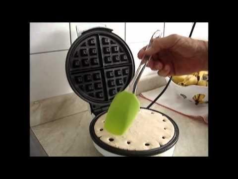 Como fazer um waffle tradicional americano!! blog da priscila!!! www.priscilanieto.blogspot.com - YouTube