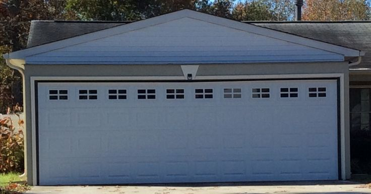 20x6u00279 Model 2240 Garage Door With Stockton Inserts Installed By The  Richmond Store.