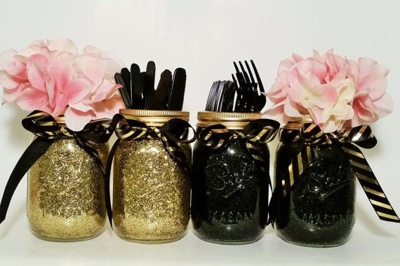 Mason jar centerpiece wedding graduation