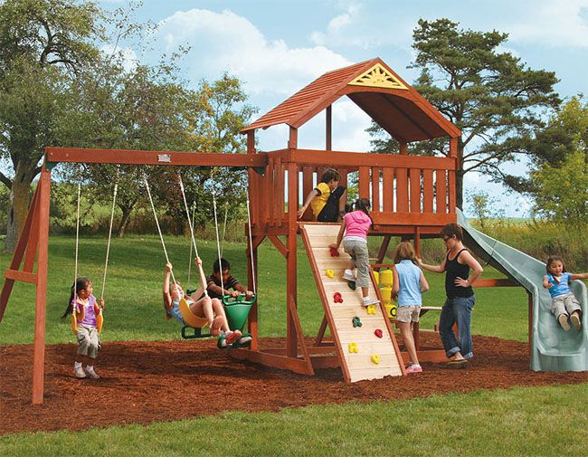 Swing Set Plans Bayside Wooden Swing Set From Big