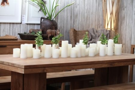 Enjoy Lighting Flameless Candle On Table - Complete Pad