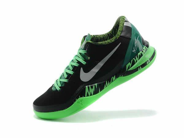 Nike Kobe 8 Noir Vert Gris Chaussures Sport Nike