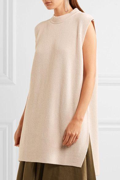 Jil Sander - Oversized Cotton, Silk And Cashmere-blend Sweater - Neutral - medium