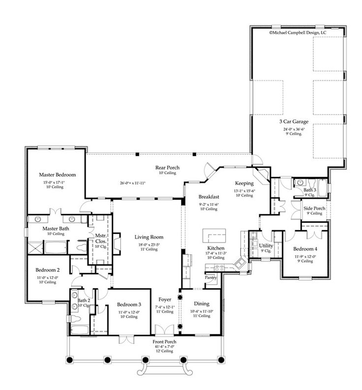 Need Butler Pantry Between Kitchen And Dining 2800   85 Floor Plan Acadian  House Plan. Part 38