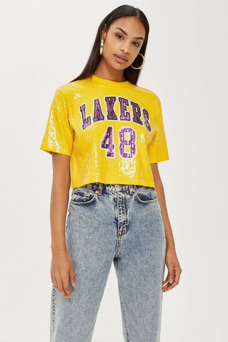 Lakers Sequin Crop Top by UNK X Topshop - New In Fashion - New In ...