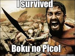 boku no pico epic meme!    its so true...if you can survive the first episode of boku no pico you will live forever....lol        #hentia