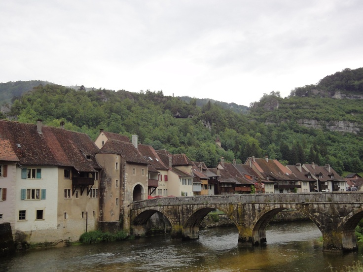 The little town of St-Ursanne; Jura CH were some pple from Basel spend their weekends :)