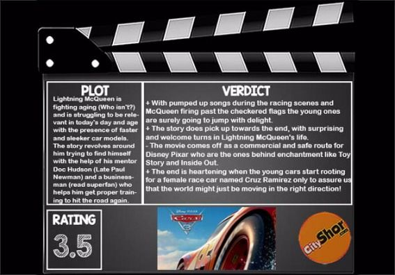 Movie Review: Cars 3  #MovieReview #Hollywood #Animation #Entertainment #Cars3 #CityShorBengaluru