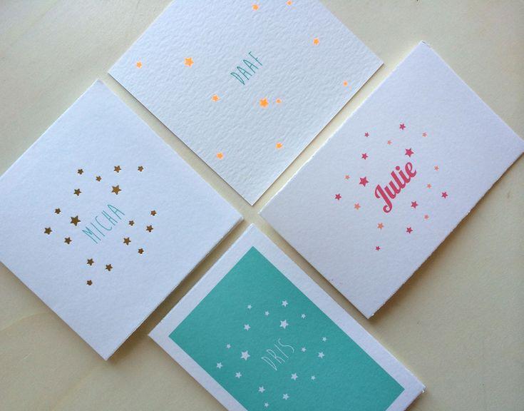 Geboortekaartjes met sterren Lief Leuk & Eigen