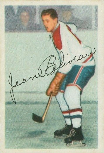 jean beliveau hockey cards | Jean Beliveau Hockey Cards: First and Last