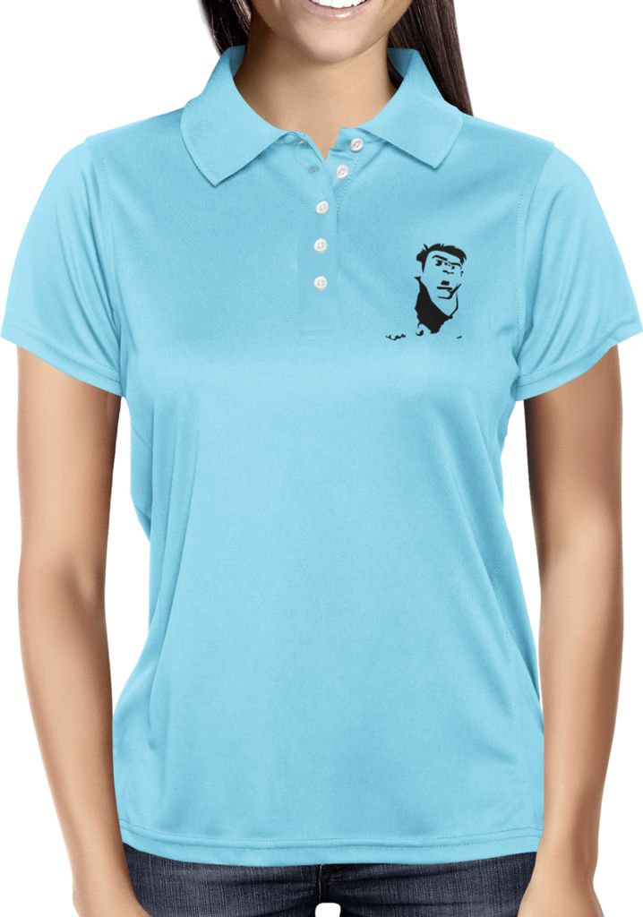 Light Blue Blank - Dhaporshankh Girls Polos