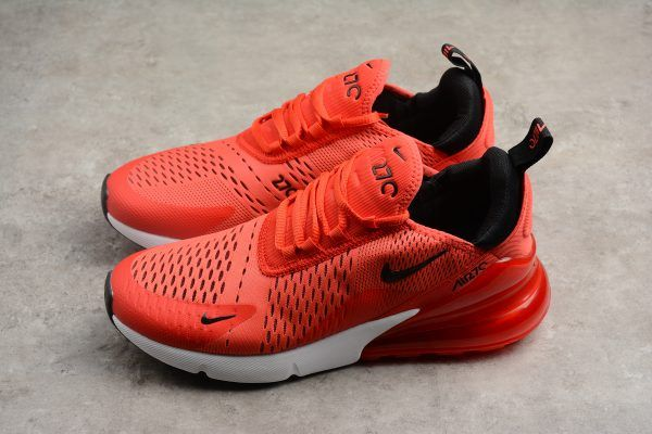 6d51ab8465159 Mens and Womens Nike Air Max 270 Habanero Red Black White Challenge Red  AH8050-601-2