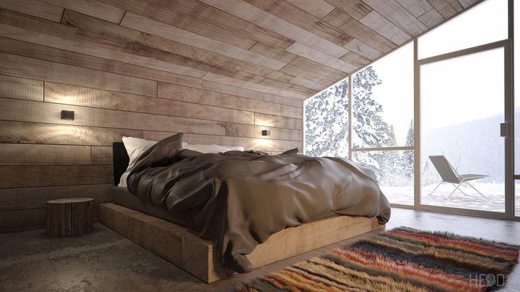 Black Lake Vacation Cabin Bedroom in Montenegro