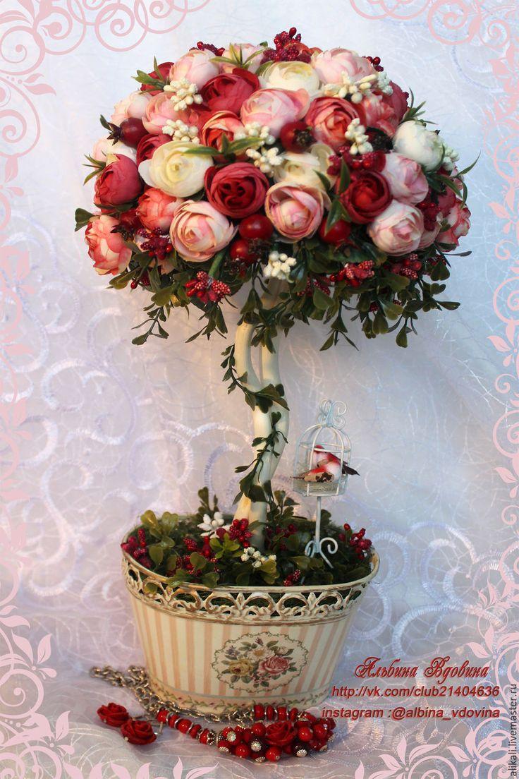 """Купить Топиарий-""""Paradise"""" - топиарий, топиарий дерево счастья, подарок девушке, подарок, цветы, розы"""
