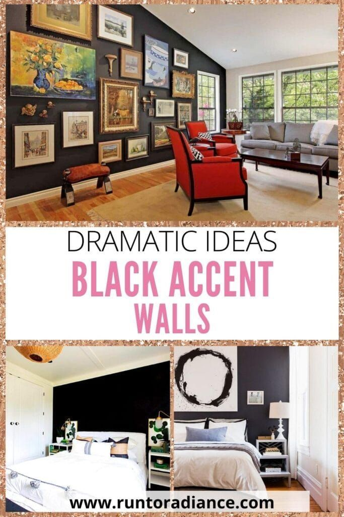 Black Accent Wall Dramatic Ideas For Your Living Space Black Accent Walls Accent Wall Fabric Dining Room