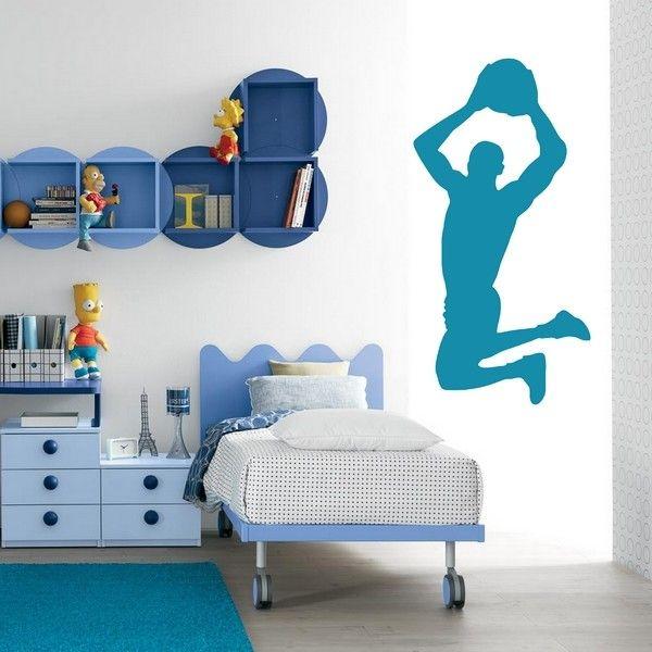 "Sticker décoratif ""Basket Dunk"" http://www.artandstick.be/custom.php5?ref=3834322c3130&n=Stickers-Chambre-ado-Basket---Dunk"
