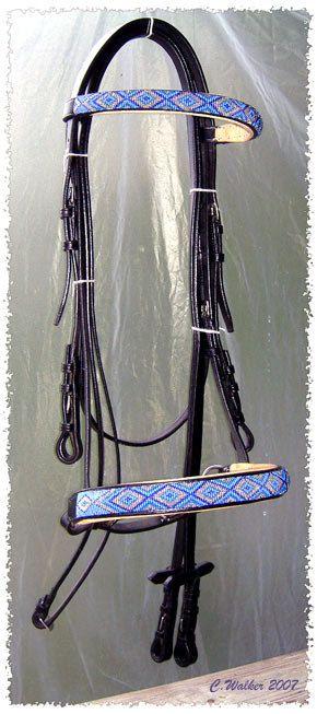 Hand Beaded Horse Bridle or Headstall Custom Order by beadedsaddle, $350.00