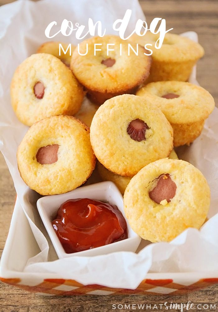 Corn Dog Muffins - These corn dog muffins are kid-friendly and so easy to make…