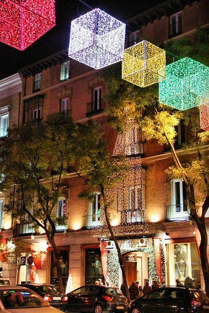Luces de Navidad 2010 en Madrid Spain