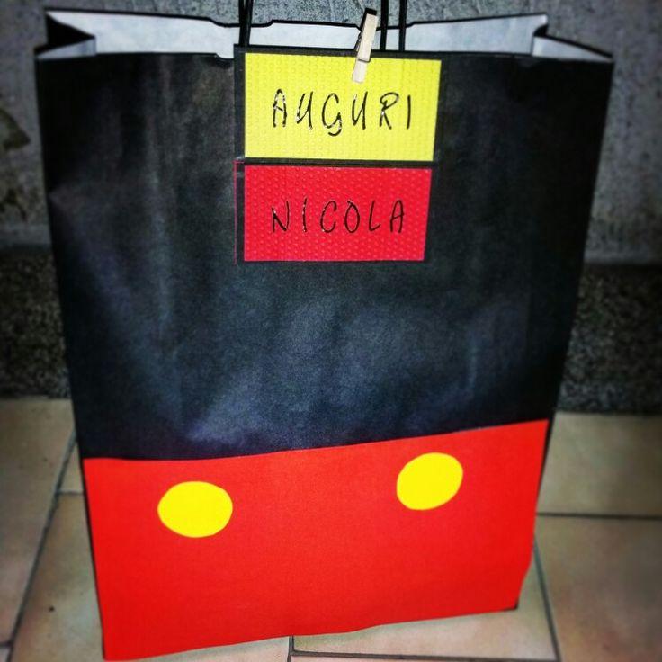 busta regalo topolino mickey mouse gift birthday