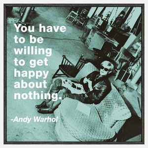 McGaw Graphics The Philosophy Of Andy Warhol: Happy About Nothing