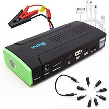 Indigi® Car Jump Starter Mobile Battery Charger Power Bank As Emergency Car Battery Booster 12800mAh Cellphone Laptop Backup Power Source