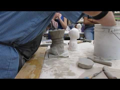 Bust sculpture with simple armature tutorial - YouTube