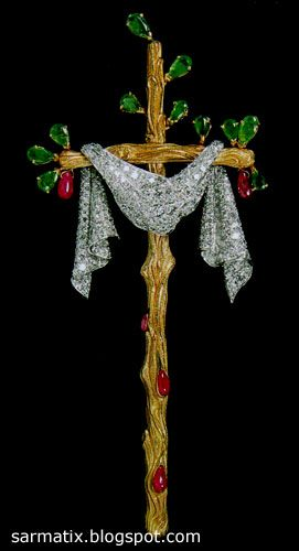 Twig Cross - jewelry by Salvador Dali, Figueres, Spain.