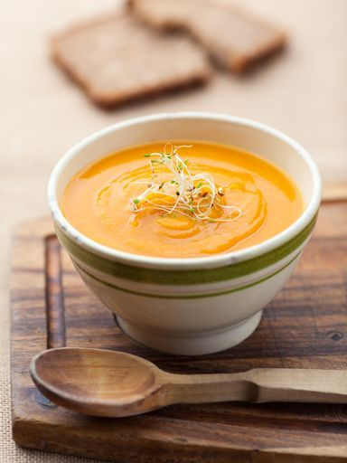 Carrot and Pumpkin soup - Soupe carotte potiron pomme : Recette de Soupe carotte potiron pomme - Marmiton