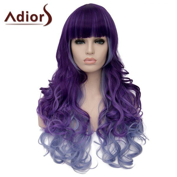 Adiors Heat Resistant Synthetic Full Bang Long Curly Wig For Women, COLORMIX in Synthetic Wigs   DressLily.com