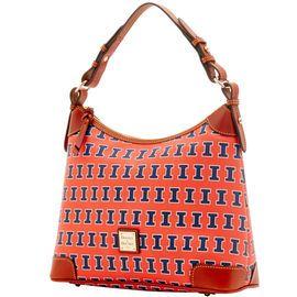 NCAA College basket/ March Madness | Dooney & Bourke | NCAA Illinois Hobo  NCAA | Basketball Handbag | Basketball Accessory | Basketball Accessories | Basketball Purse | Fashion | Style
