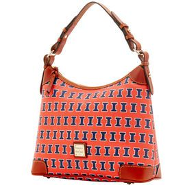 NCAA College basket/ March Madness | Dooney & Bourke | NCAA Illinois Hobo  NCAA | Basketball Handbag | Basketball Accessory | Basketball Accessories | Basketball Purse | Fashion | Style