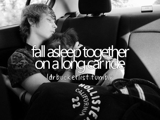 I am pretty sure I have done this but I'm a not completely sure. I fell asleep in a limo coming home from Prom.( awhhh not me but awww to them)