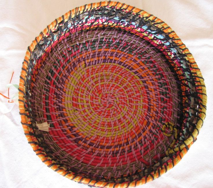 One of my favorite woven baskets from another angle.  I love the colours in this one!