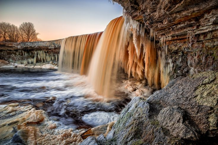 Icy Cascade - Freezing waterfalls are something I find fascinating to shoot. This one was found by accident in Estonia.  There you go a reason to go out.  Winter is awesome.