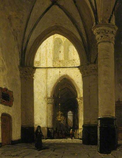 The Interior of Alkmaar Church by Johannes Bosboom   National Galleries of Scotland Date painted: 1851–1891
