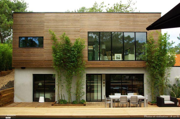 Maison bois contemporaine cap ferret cap ferret a un fil for Maison moderne 57